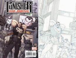 Punisher War Journal 5 by Ariel Olivetti Comic Art